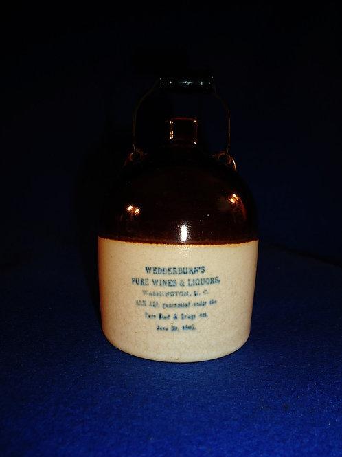 Wedderburn's Pure Wines & Liquors Stoneware Mini Jug from D.C,
