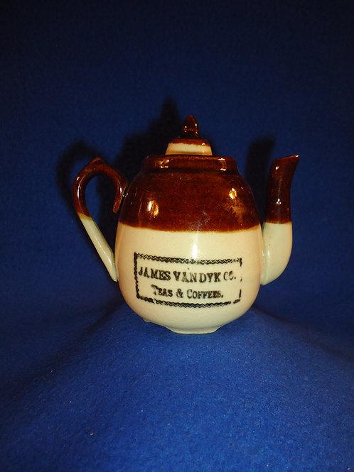 James Van Dyk Teas & Coffees Miniature Stoneware Teapot