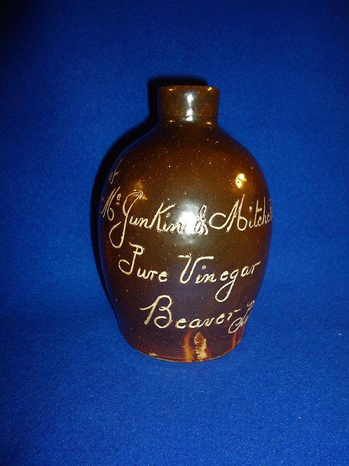 McJunkin & Mitchell, Beaver, Pennsylvania Stoneware Vinegar Scratch Jug