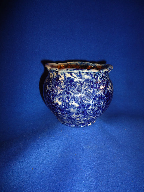 Mid 19th Century Blue and White Spongeware Master Salt, #4992