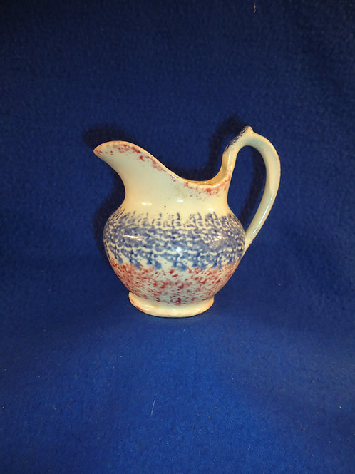 Early 19th Century Blue and Red Spatterware Creamer #4613