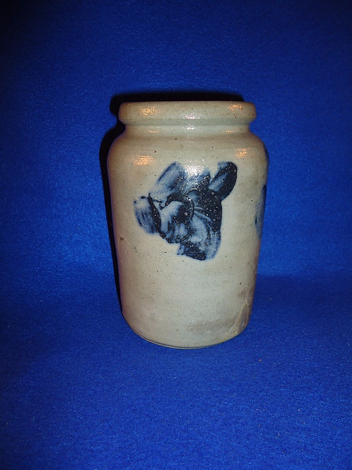 "Circa 1870 Tiny 6 1/2"" Stoneware Jar from Baltimore, Maryland"