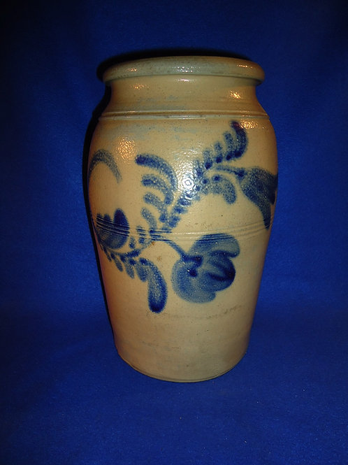 2 Gallon Jar with Freehand Floral attributed to Boughner of Greensboro