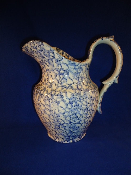 Early 19th Century Blue and White Staffordshire Spongeware Pitcher