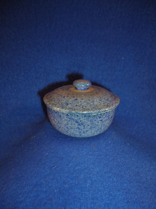 Blue and White Spatterware Staffordshire Child's Covered Bowl #5089