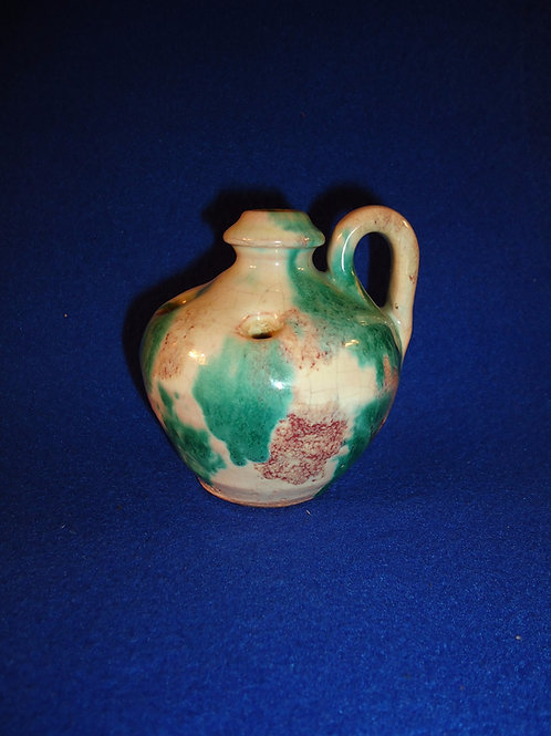 Blue Ridge Pottery, Virginia Stoneware Jug Flower Frog