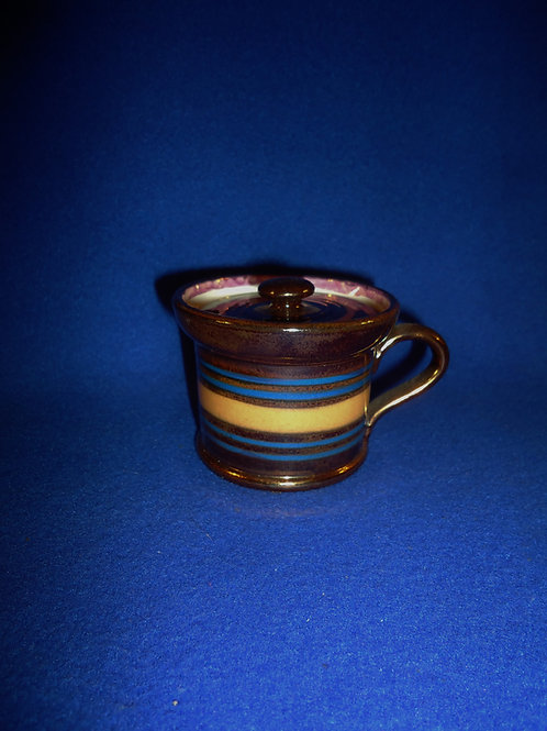 Staffordshire Copper Luster Mustard Pot with Lid