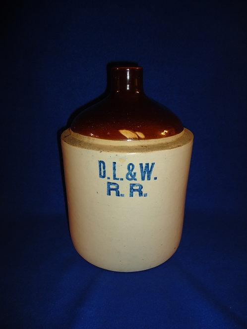 Delaware, Lackawanna, & Western Railroad Stoneware Jug #5224