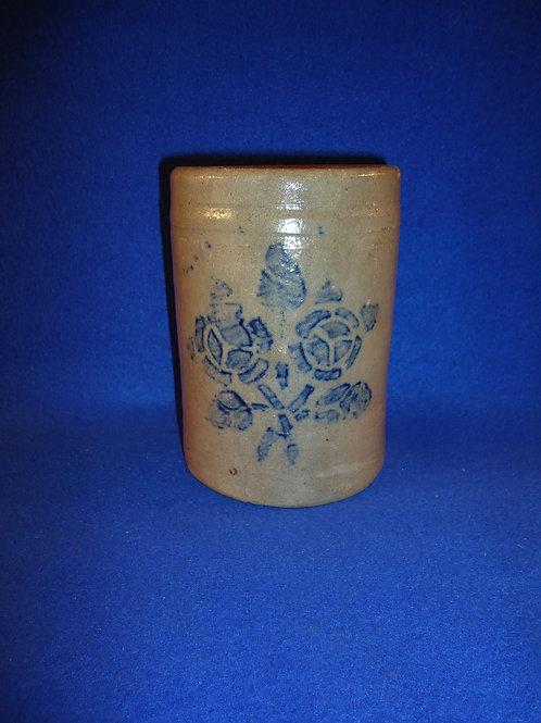 """Rare 6"""" Stovepipe Wax Sealer with Roses, att. Hamilton & Jones, Greensboro, PA"""