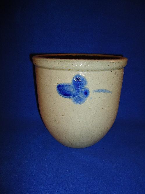 Circa 1880 Stoneware 1 Gallon Cream Pot with Clovers from Baltimore, Maryland