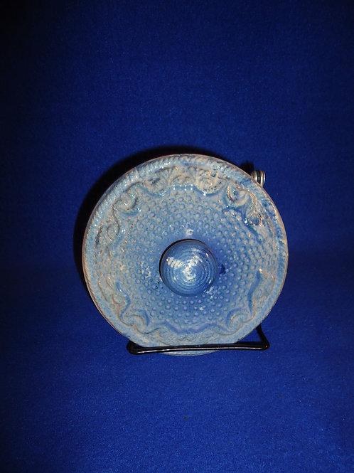 Blue and White Stoneware Salt Crock Lid, Eagle Pattern #5330
