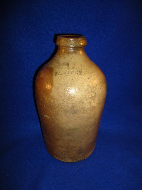 Chauncey Tupper, Mogadore, Ohio Stoneware 1 Gallon Jug