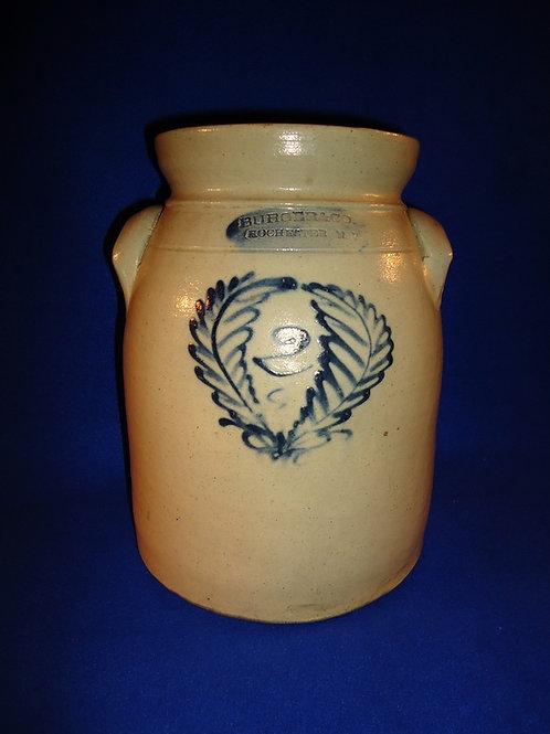 Burger & Co., Rochester, New York Stoneware 2 Gallon Preserve Jar with Wreath