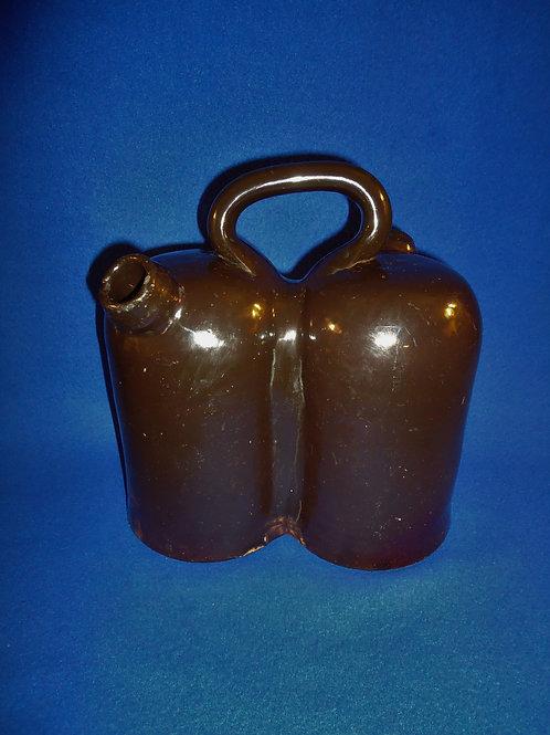 Late 19th Century Stoneware Double Gimmel Jug #5389