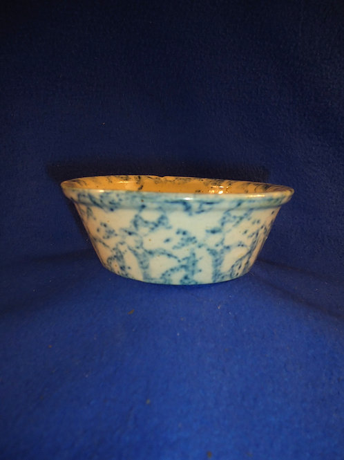Blue and White Spongeware Stoneware Berry Bowl #5409