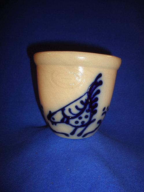 Jerry Beaumont, York, Maine Stoneware Custard Cup with Chicken #5187