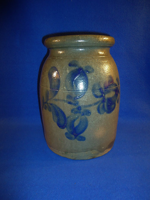 Circa 1860 1 1/2 Gallon Jar with 3 Tulips, Beaver, Pennsylvania #4717