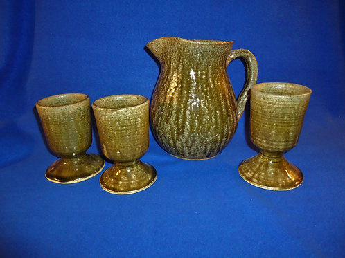 Anita Meadors, Northeast Georgia Stoneware Pitcher and Chalices