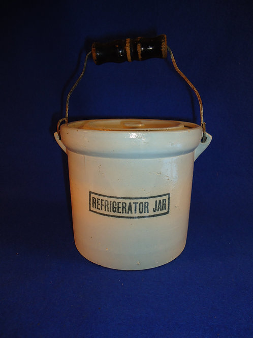 Blue and White Stoneware Refrigerator Jar by Red Wing Union Stoneware Company