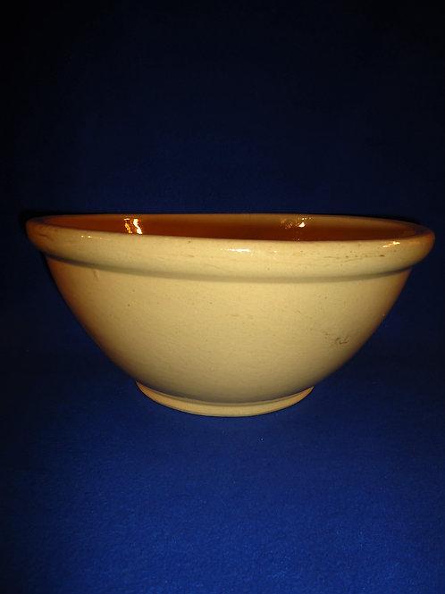 """Circa 1920 Yellow Ware 14"""" Bowl, #4813"""