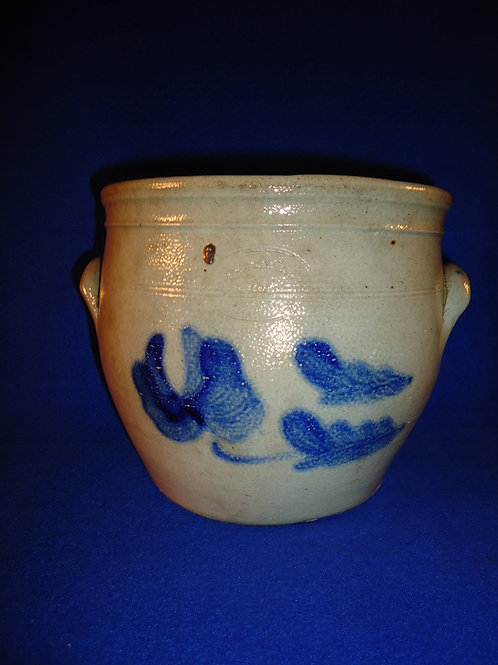 F. J. Caire, Huntington, Long Island Stoneware 1 Gallon Cream Pot with