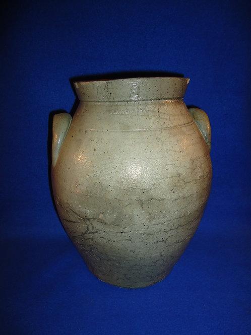 Rare P. Klopfenstein, Stoneware 2 Gallon Ovoid Jar, att. Ohio