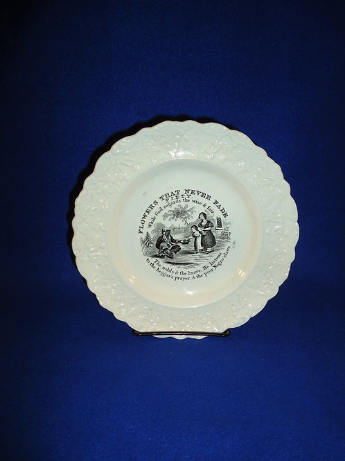 Circa 1830 Staffordshire Child's Plate with Negro Slave #4574