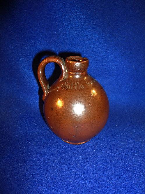 Anna Pottery, Anna, Illinois Stoneware Little Brown Mini Jug