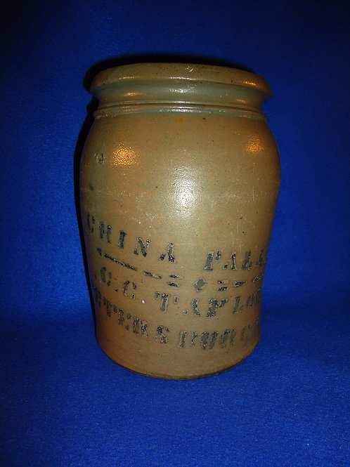 C. G. Taylor, Petersburg, Virginia 1g Stoneware Jar by Donaggho of Parkersburg
