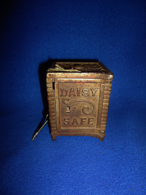 Daisy Safe Cast Iron Bank with Working Lock and Key