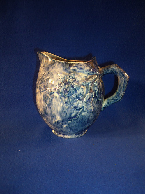 Blue and White Flow Spatter Stoneware Pitcher, att. Griffin Smith & Hill