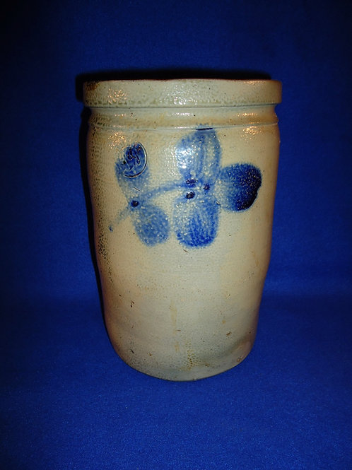 Peter Hermann, Baltimore, Maryland Stoneware 1 Gallon Jar with Clovers