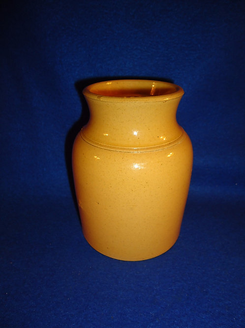 Mid-19th Century Yellow Ware Canning Jar with Original Lid
