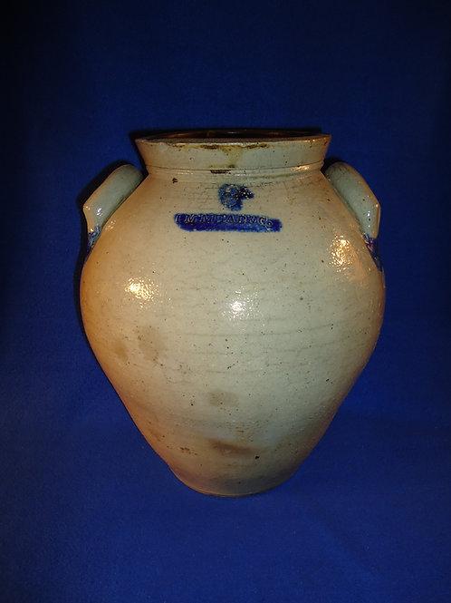 I. M. Mead, Portage County, Ohio Stoneware 3 Gallon Ovoid Jar
