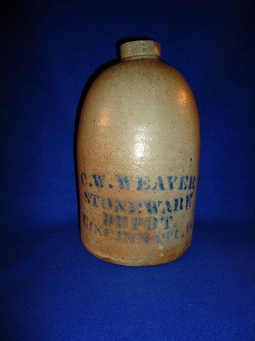 C. W. Weaver, Cincinnati, Ohio 1 Gallon Stoneware Jug