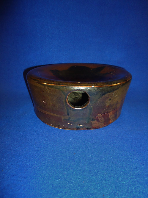 Late 19th Century Stoneware Pillbox Spittoon Cuspidor  #4518