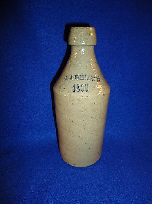 A. J. Gleason 1859 Stoneware Bottle