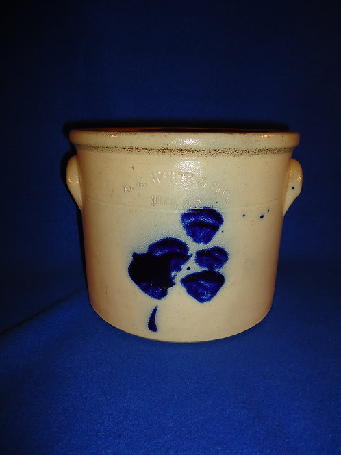 Cute 1 Gallon Crock with Orchid, N. A. White of Utica, N.Y. #5270