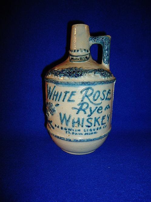 P. J. Bowlin, White Rose Rye Whiskey Stoneware Jug, St. Paul, Minnesota