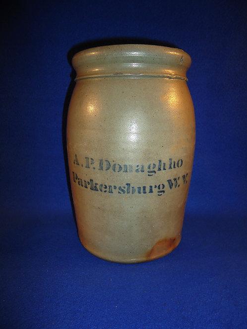 A. P. Donaghho, Parkersburg, West Virginia Stoneware 1 Gallon Jar #5718