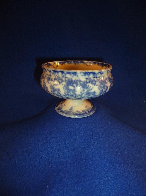 Blue and White Spongeware Staffordshire Master Salt