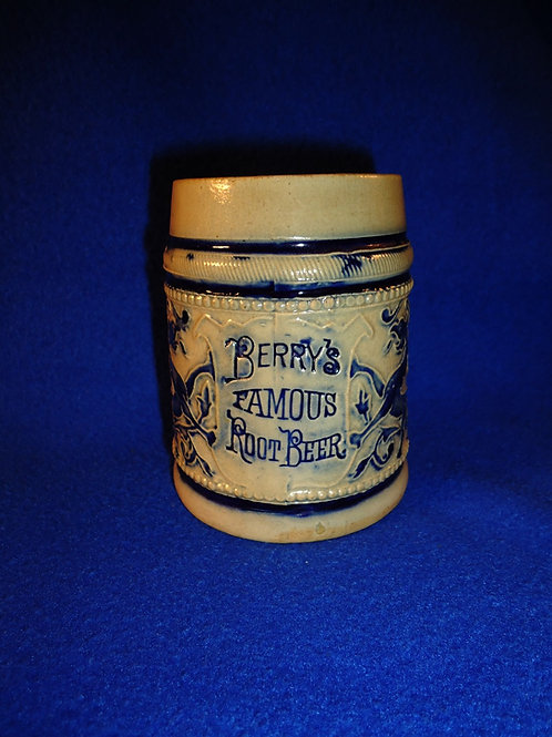 Berry's Root Beer Stoneware Mug by Whites Pottery of Utica, N.Y.