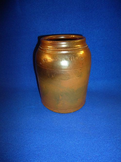 Cowden & Wilcox, Harrisburg, Pennsylvania Stoneware Wax Sealer Canning Ja