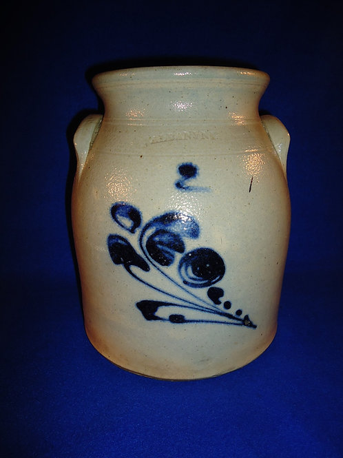 Albany, New York Stoneware Preserve Jar, att. Albany Stone Ware Factory