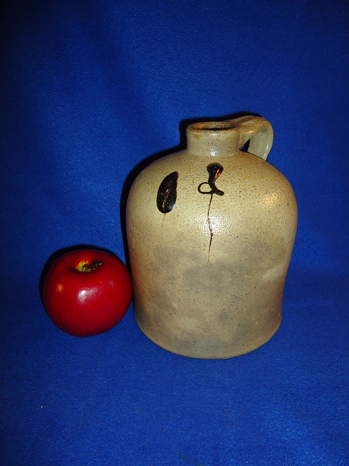 Circa 1880 1/2 Gallon Stoneware Jug with Salt Drips from the Midwest