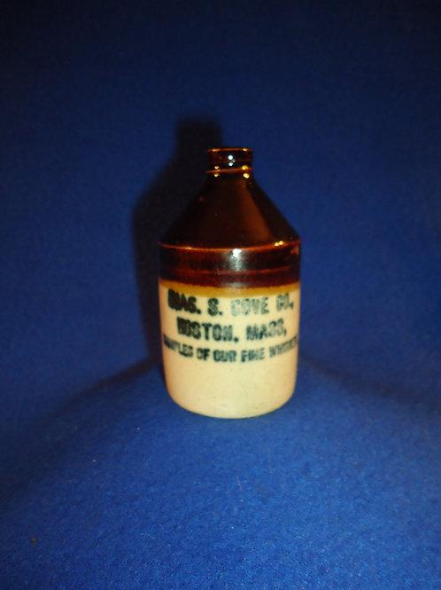 Charles Gove, Boston, Massachusetts Stoneware Whiskey Mini Jug