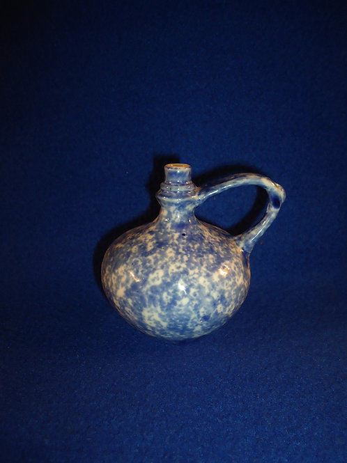 Blue and White Spongeware Perfume Bottle