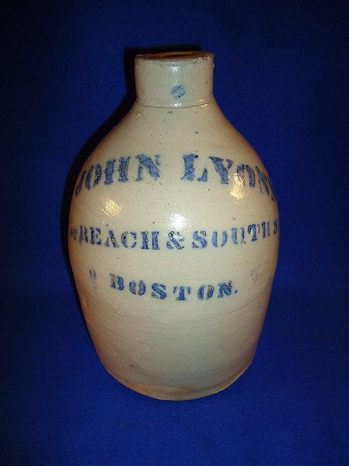 John Lyons, Boston, Massachusetts Stoneware Merchant Jug