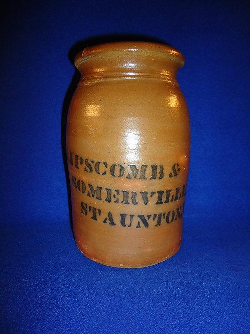 Lipscomb & Somerville, Staunton, Virginia Stoneware Wax Sealer, att. Donaghho
