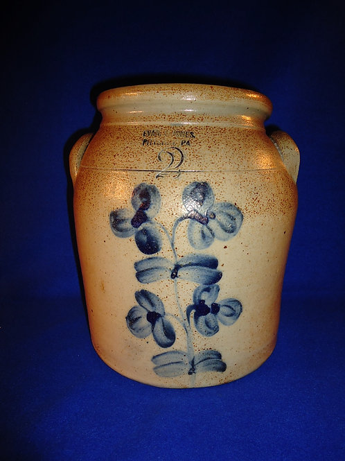 Rare Evan Jones Jar from Pittston with Peter Hermann Clovers from Baltimore